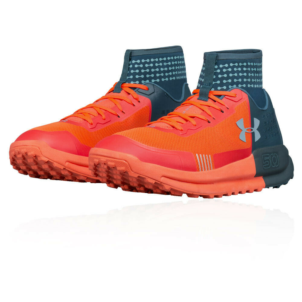 b3f185af29a944 Under Armour Mens Horizon 50 Trail Running Shoes Trainers Sneakers Black  Orange