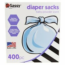 NEW Sassy Baby Scented Disposable Diaper Sacks, 400 Count for Diaper Bag!