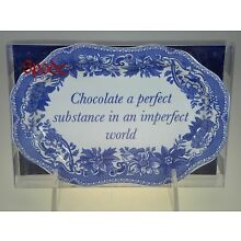 Spode Blue Room Mini Platter (Chocolate a Perfect Substance) NEW IN BOX