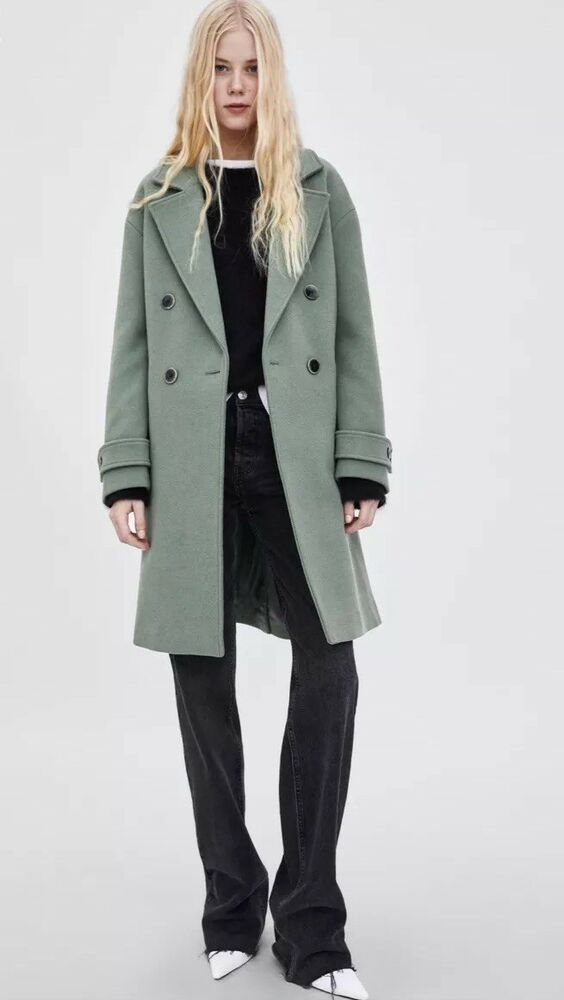f58567cc Zara Women's Double-Breasted Color Coat Size:Large MSRP:$129 | eBay