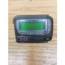 MOTOROLA ADVISOR ELITE  ALPHA PROP / STOCKING STUFFER  PAGER  WITH HOLSTER!!