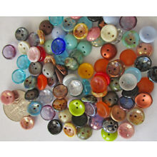 BIG LOT: 87 Czech Glass 8mm Assorted 2-Hole Piggie (Round Hollow) Beads
