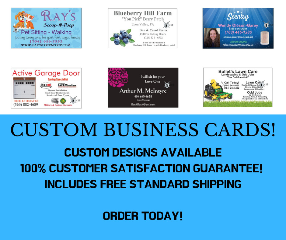 500 Custom Full Color Business Cards Free Design Free Shipping Ebay
