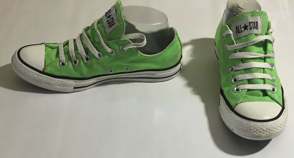 cc566f7ff3c Details about Converse Chuck Taylor All Star Lime Green 114061F Size Mens 6  Womens 8 Unisex