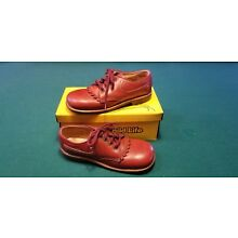 Vintage Childs 1970 Reddish Brown Leather Kiltie Oxford Shoes 11 NOS mint