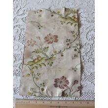 French Antique 18thC Floral Brocaded Silk Fabric~Design,Collectors~L-13