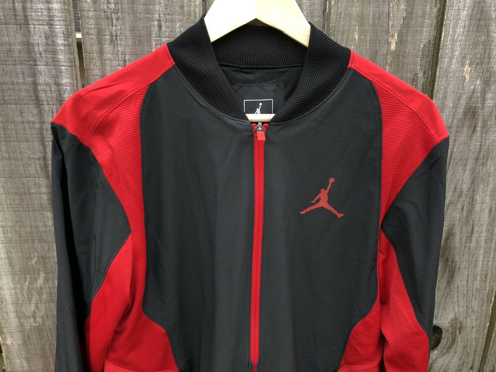 b9d68b36f0a8cb Details about Men s Nike Air Jordan Ultimate Flight Jacket Black Red Bred  Wing Logo 887440-011