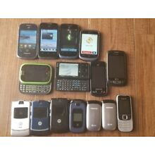 Lot of GSM Android smartphones Camera Flip phones StraightTalk AT&T Tracfone