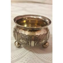 Antique Sterling Silver Small Mustard Pot Dated 1880
