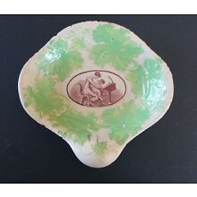 Early 1800s American Empire Pottery Bowl/Mother & Child/Old Staple Repair