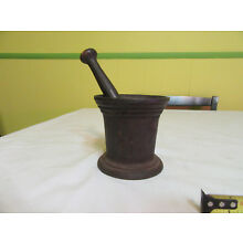 Antique Cast Iron Mortar and Pestle Apothecary Science Medicine Pharmacist