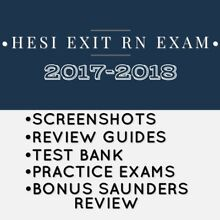 HESI Exit Exam RN Test Bank 2017-2018 Screenshots and Review