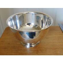 "English Silver Mfg Co, USA ~ LARGE Silverplated Serving Bowl, 9 3/4"" ~ 6"" Tall"