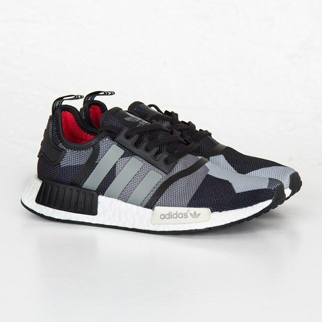 80fc46b66ca2f Details about Adidas NMD R1 Geometric Black Camo Mesh Size 12. S79163 yeezy  ultra boost