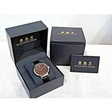 NEW Halcyon Days BLACK AGAMA SPORT WATCH w/Leather Strap & Orig Box FREE SHIP