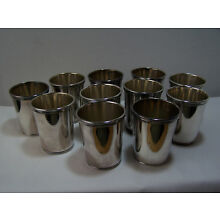 Silver Plated Cups Goblets Kiddush