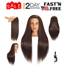 Mannequin Head With Hair Female Cosmetology Manikin Head Stand Dummy Doll Wig