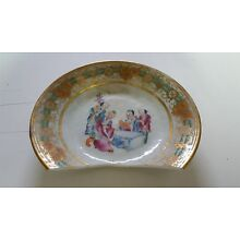 Antique Cracked Chinese Hand Painted Plate