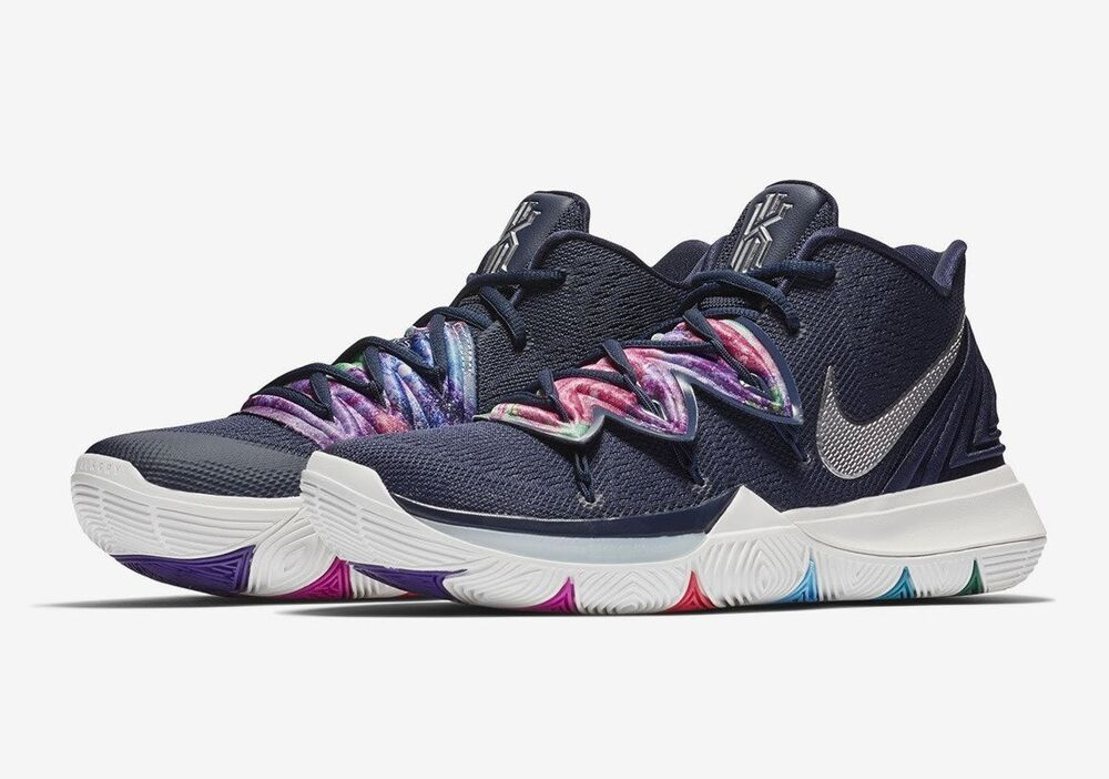 a34ac4c42aee23 Details about Nike Kyrie Irving 5 V Multi-Color Navy Blue Alternate Galaxy  AO2918-900 Men GS c