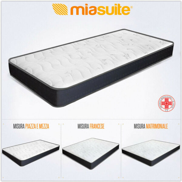 MATERASSO POLIURETANO WATERFOAM H 22 CM ORTOPEDICO SUMMIT BORDATO ANALLERGICO