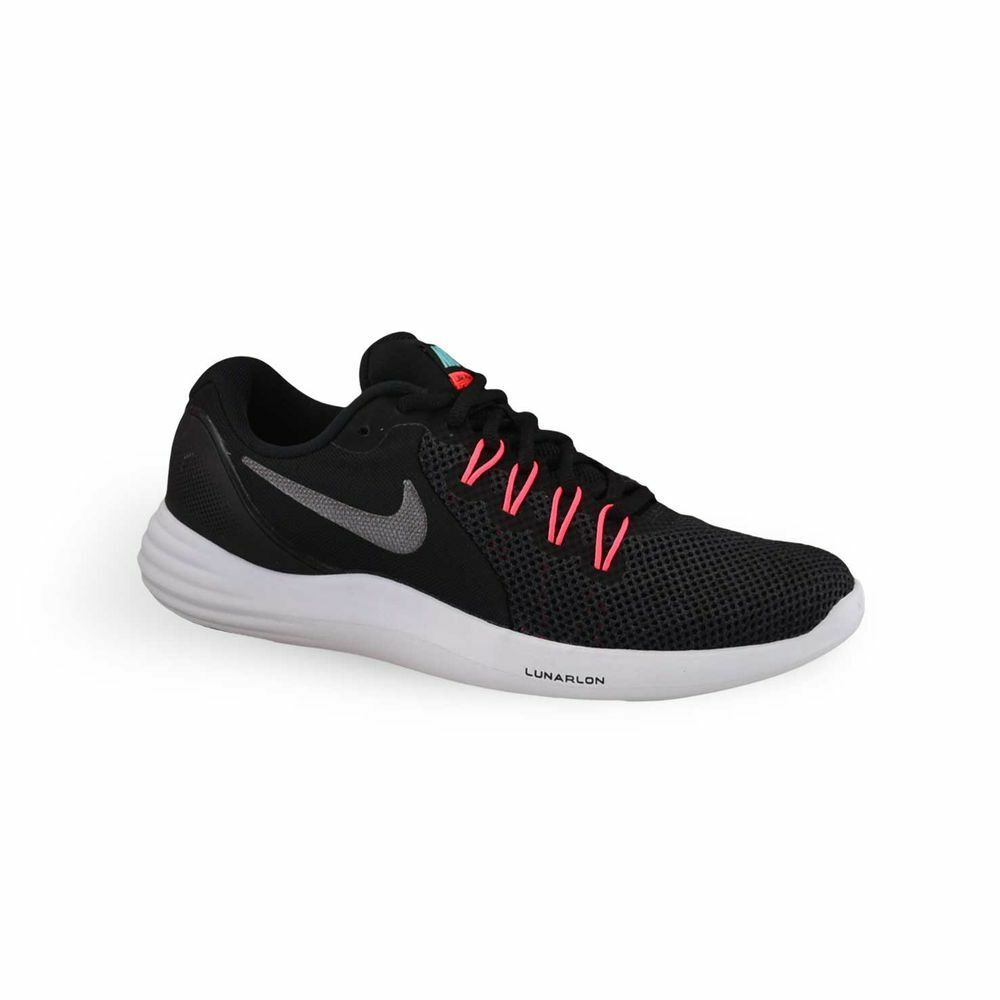f9622bee703d Details about Women s Nike® NWOB Lunar Apparent Black Pink Running Athletic  Shoes Size 9