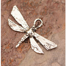 Artisan Sterling Silver Dragonfly Charm, CH-721