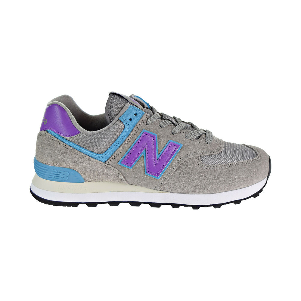 check out 317fb 425ff Details about New Balance 574 Men s Shoes Grey Purple Teal Ml574-SML