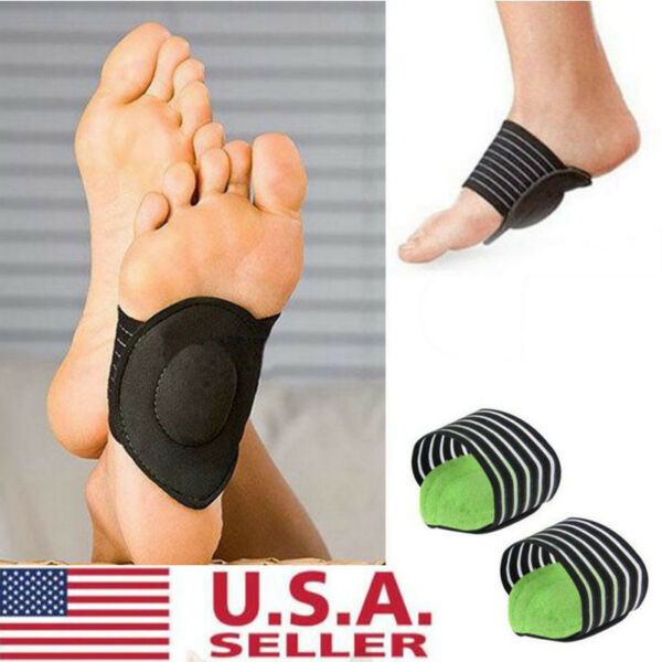 Absorb Shocking Foot Arch Support Plantar Fasciitis Heel Pain Aid Feet Cushioned