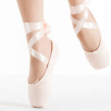 Girl Women Ballet Dance Toe shoes Professional Ladies Satin Pointe Shoes Silk