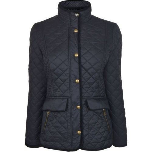 e4cee10b8 Joules Ladies Newdale Black Quilted Jacket, Size US 6, UK 10 | eBay
