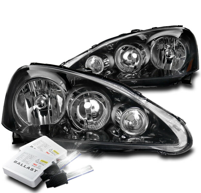 FOR 2005 2006 ACURA RSX DC5 BLACK REPLACEMENT HEADLIGHT