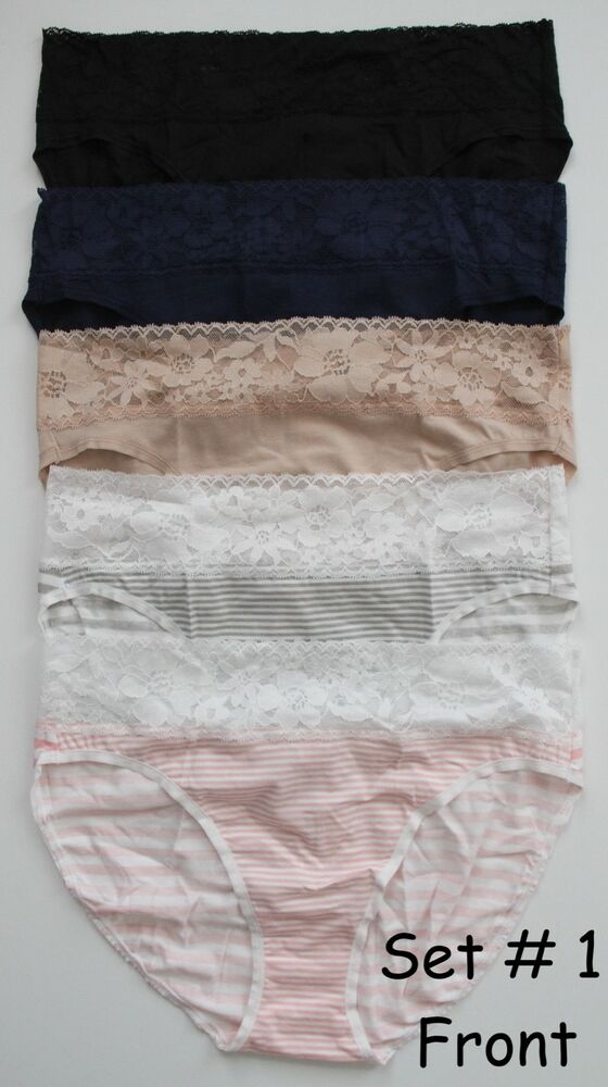 8e4cc8e20e1a Details about Victoria's Secret Stretch Cotton Lace-Waist High-leg Brief  Panty - 5/$31 MULTI