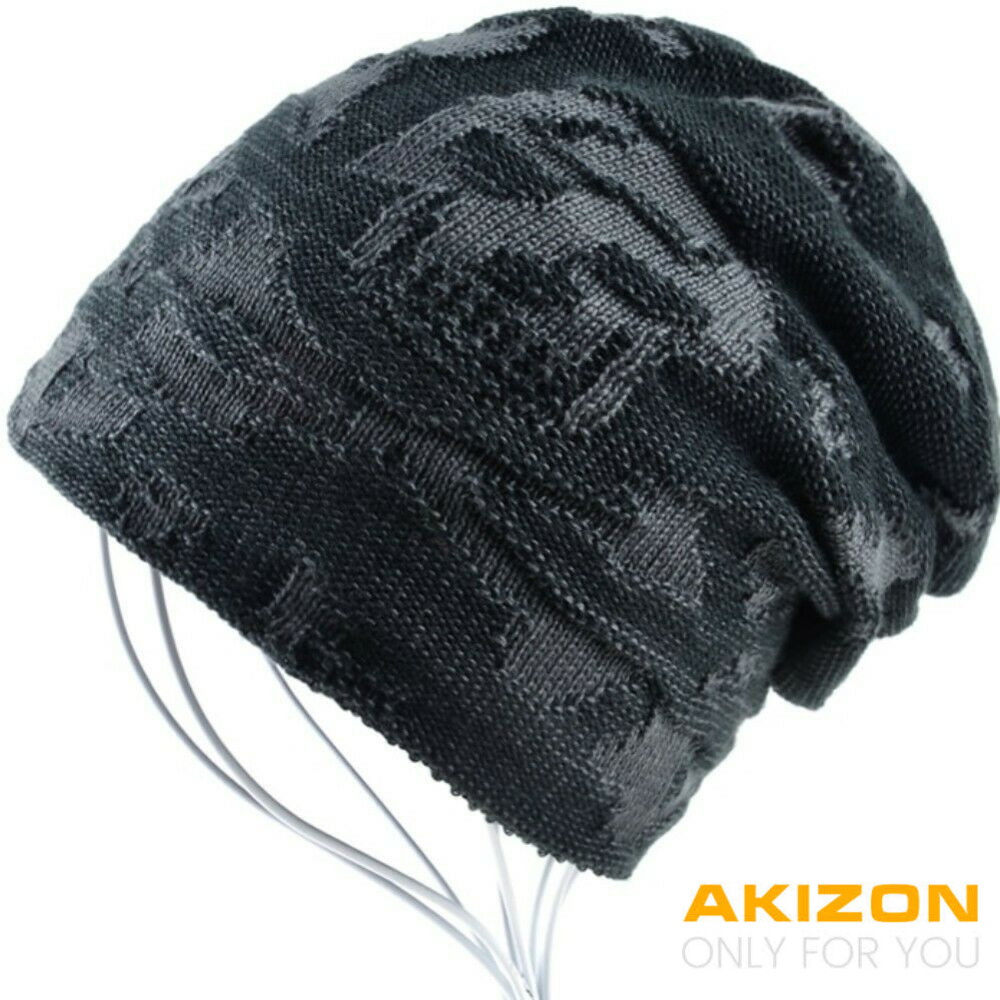 AKIZON Beanie Hat for Men and Women Skull Cap Fall Winter Warm Fashion Knit  Caps  400df6a08
