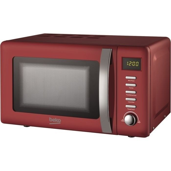 Details About Beko Moc20200r Retro Style 20l 800w Microwave Oven Red 2 Year Guarantee