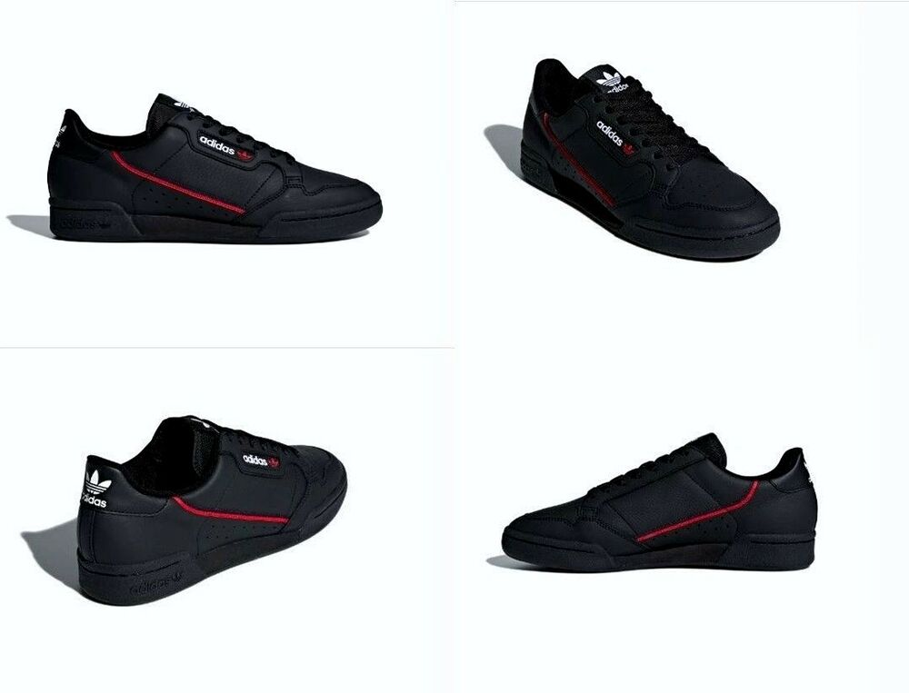 separation shoes 296cf 87142 Details about Adidas Continental 80 Shoes Leather Black Red Navy Mens Size  8 US B41672