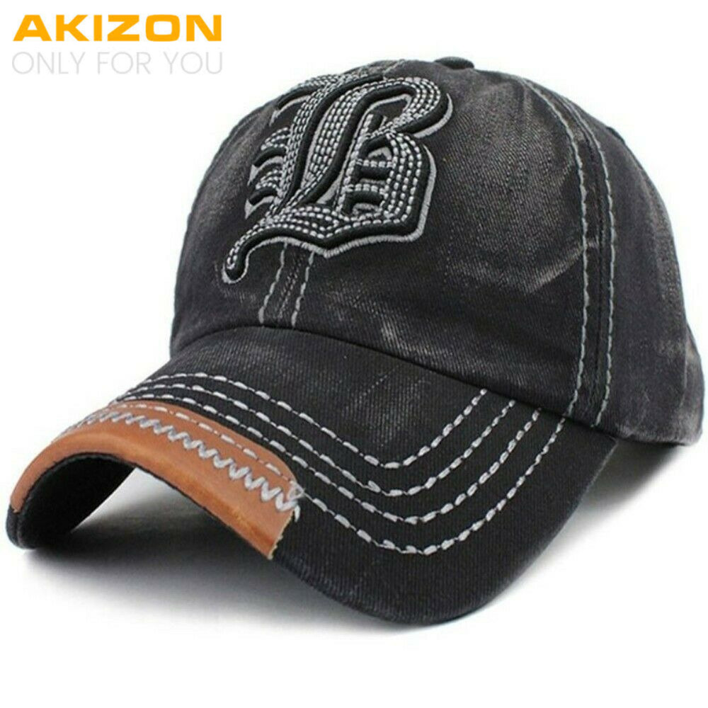 3cdfb1c7316 Adjustable Baseball Cap Embroidery Letter B Unstructured Cotton Women Hats