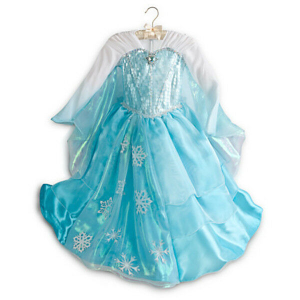 Nwt disney store frozen elsa costume dress gown 5/6 7/8 limited.