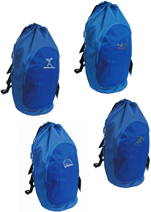 68ffecd49a Details about Asics Gear Bag Backpack Sport Training ZR307 Blue with SPORT  Embroidery