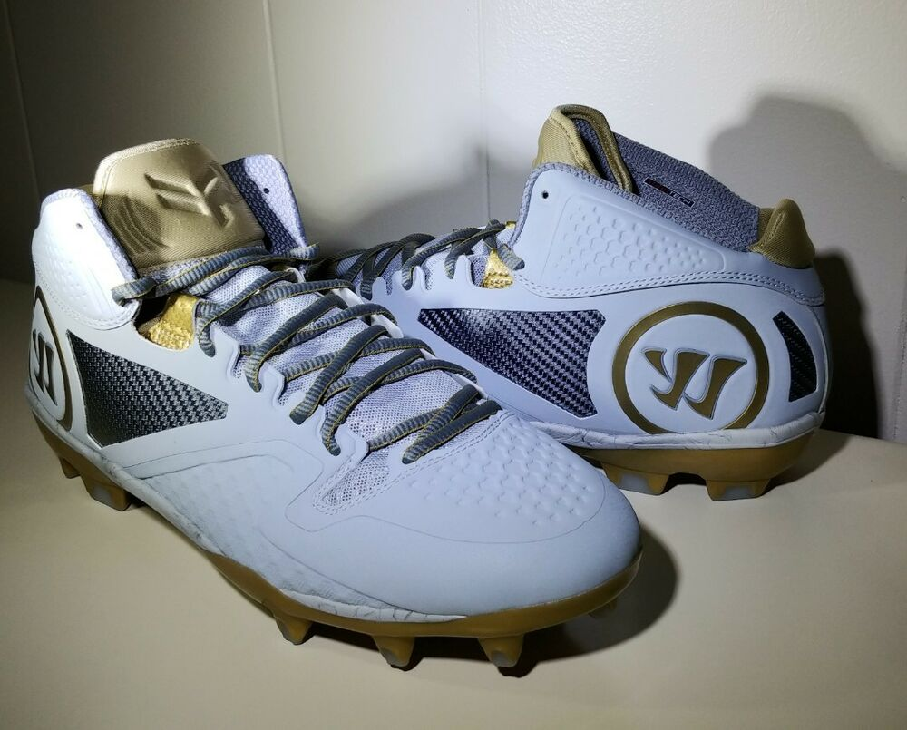 8cb0e23cc Details about Warrior Adonis 2.0 Mens Size 15 EE Extra Wide Lacrosse Lax  Cleats Gray Gold NEW