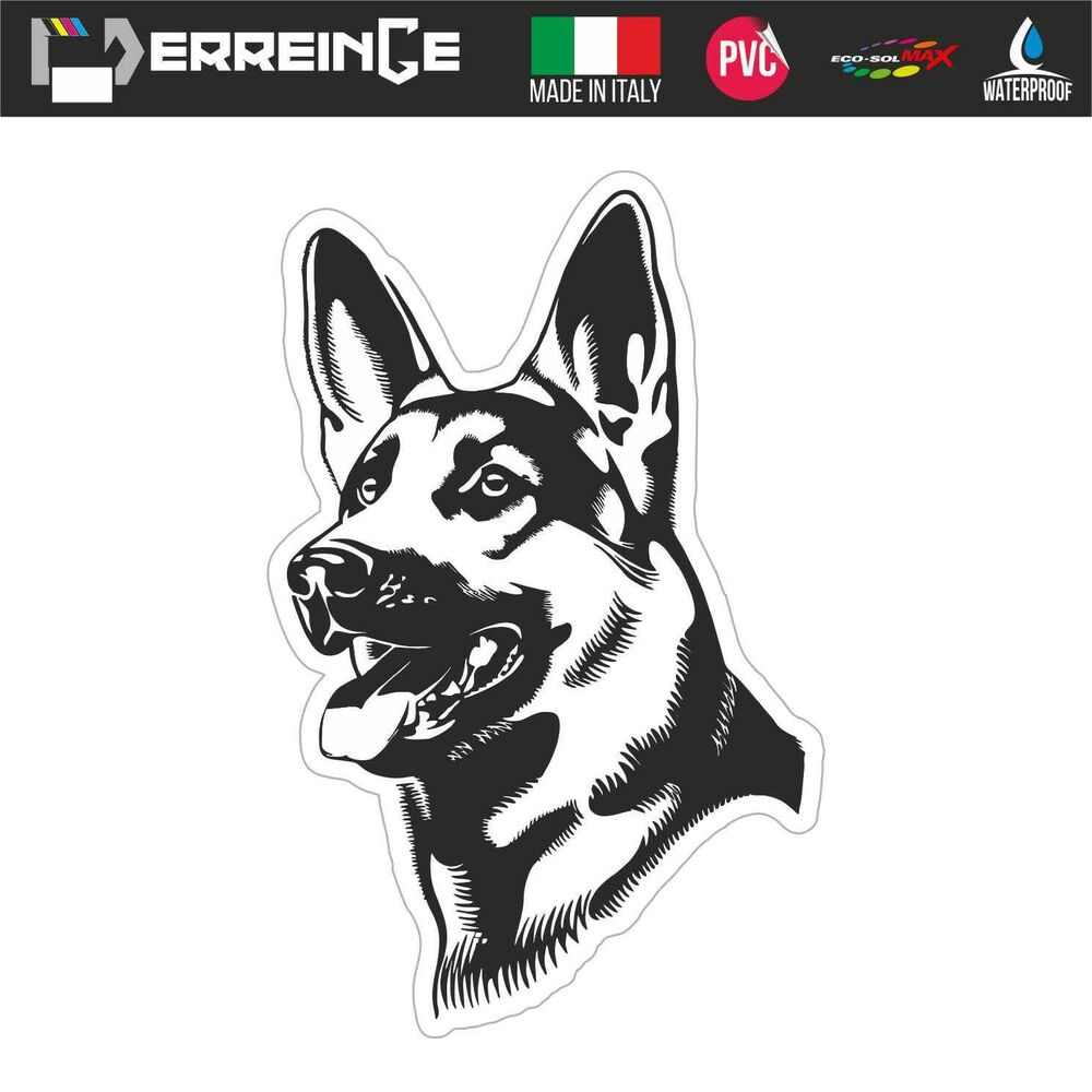 Details about sticker german shepard adhesive wall decal laptop camper animal car home dog