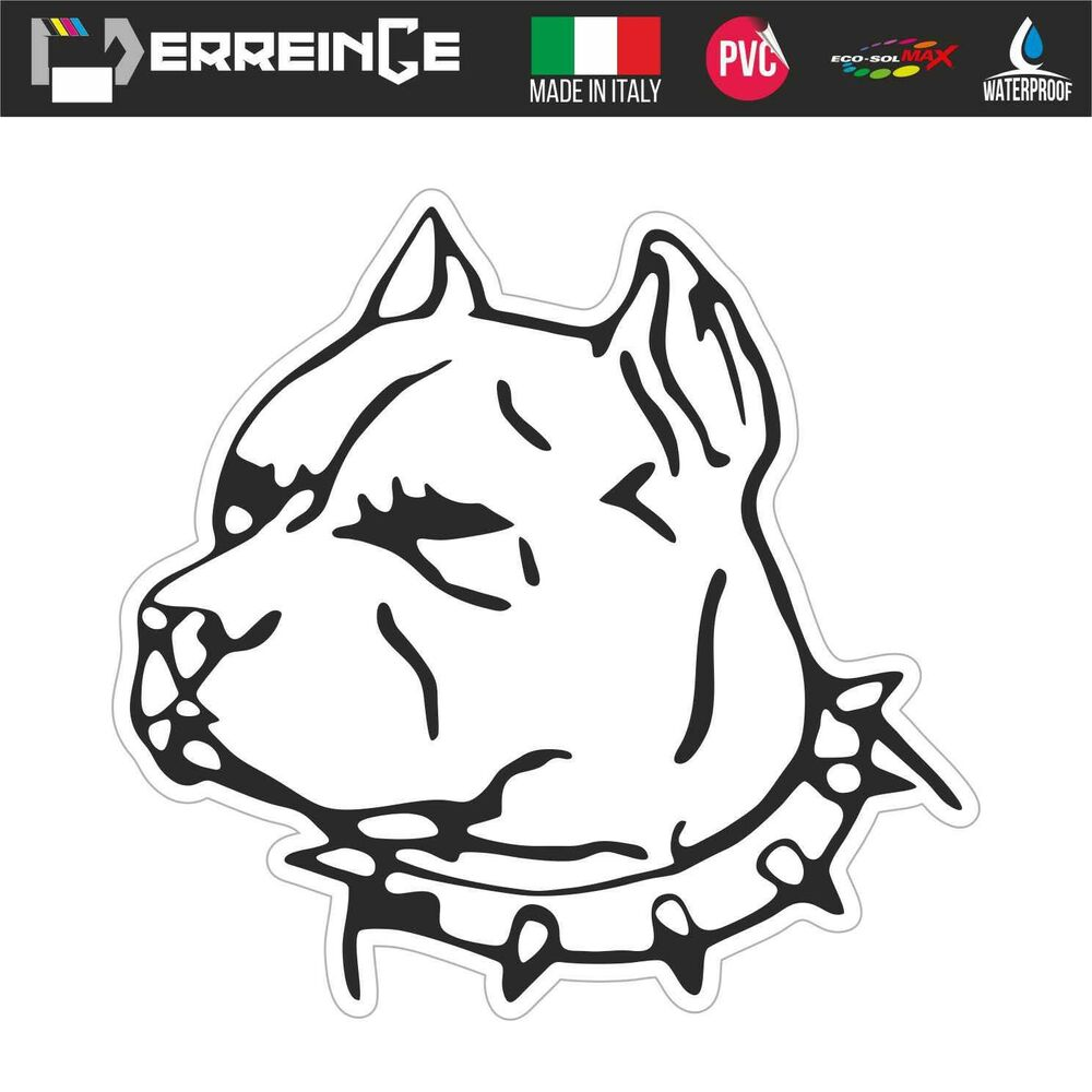 Details about sticker pitbull pit bull adhesive wall decal laptop camper animal car dog motor