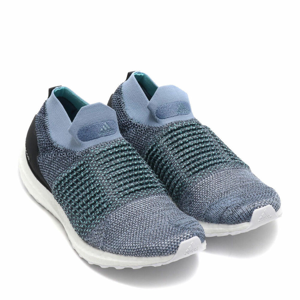 97fa445cb55 Details about New Adidas Ultraboost Laceless CM8271 Blue Carbon Slip On Running  Shoes Men  180