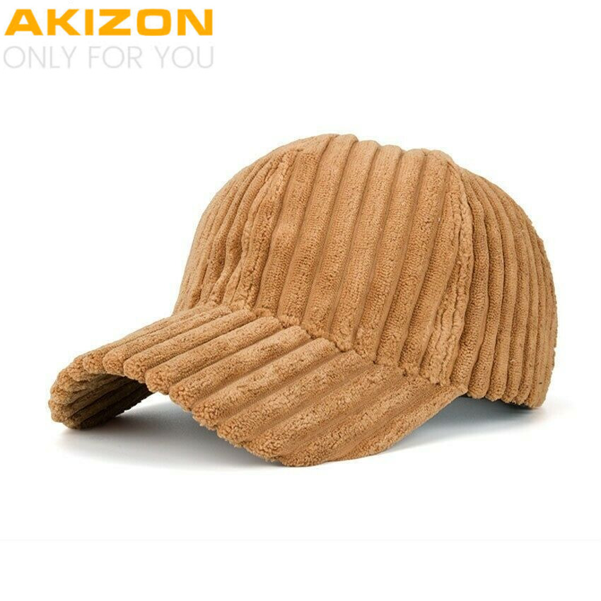 87abfb5178 Details about Baseball Cap Unisex Couple Solid Color Corduroy Winter Warm  Women Mens Hats