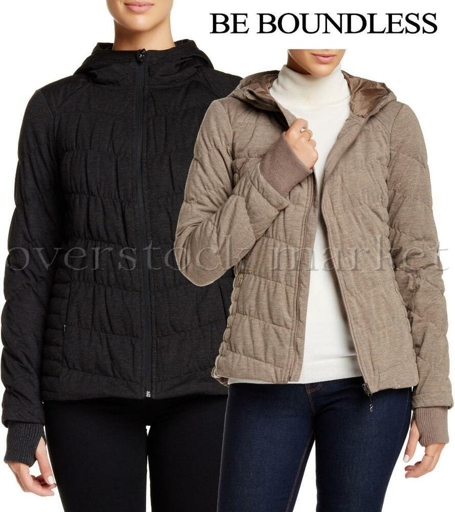f0be42e4fb Details about NEW WOMEN S BE BOUNDLESS HOODED QUILTED KNIT JACKET! VARIETY