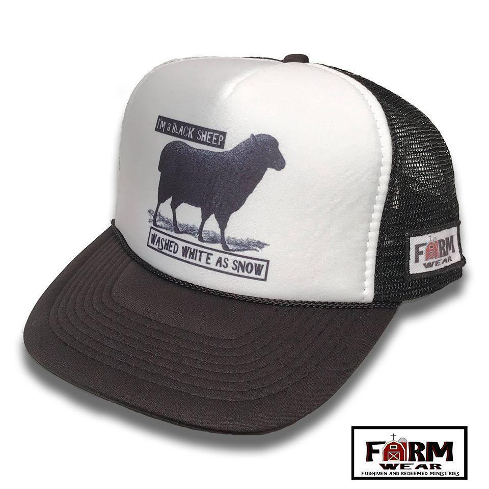 5f4f65976cda4 Details about I m A Black Sheep Washed White As Snow Vintage Style Trucker  Hat