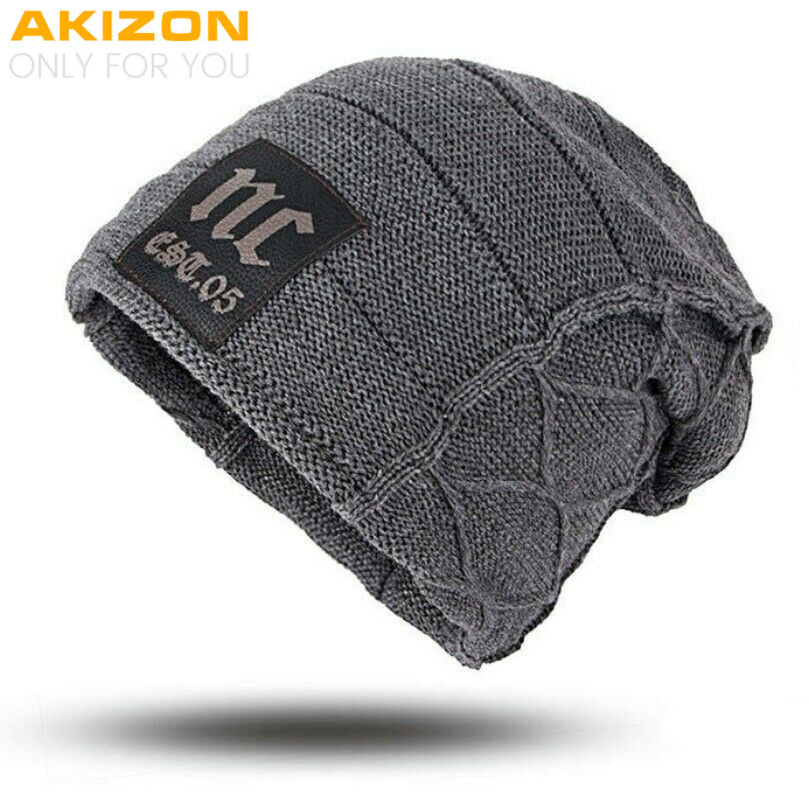 ddded5140a2 Details about AKIZON Unisex Womens Mens S Camping Hat Winter Beanie Baggy  Warm Wool Cap Hot