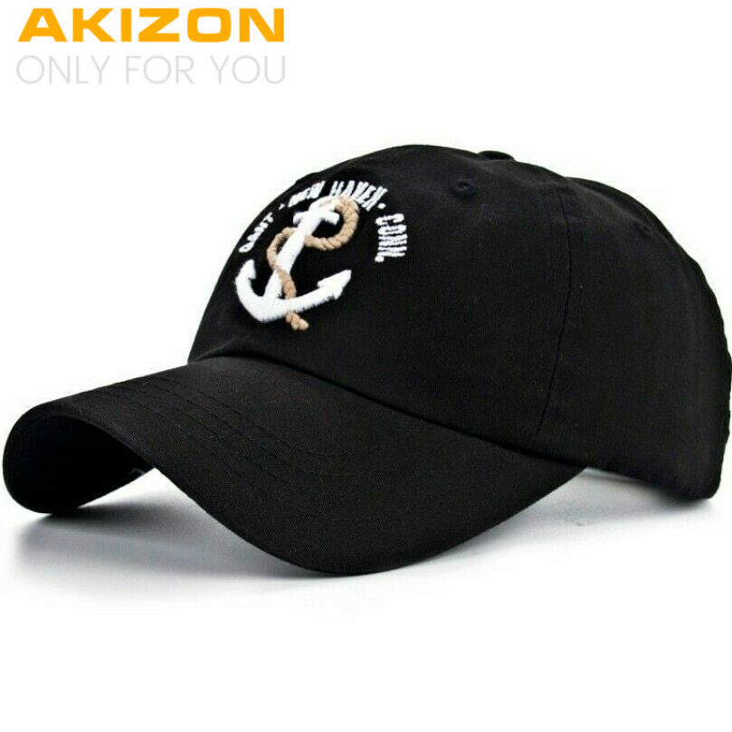 New Arrivals Cotton Gorras anchor Baseball Cap Vintage Casual Hat Snapback   26558d3a028