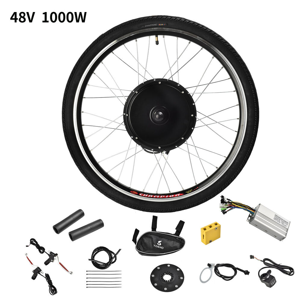 Details About 26 Rear Wheel 48v 1000w Electric Bicycle E Bike Conversion Kit Cycling Motor