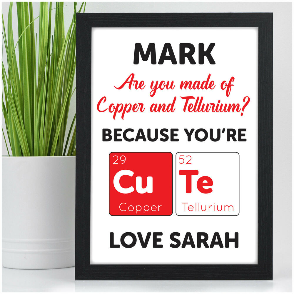 Details About Personalised Youre Cute Birthday Anniversary Gifts For Girlfriend Her Him Wife