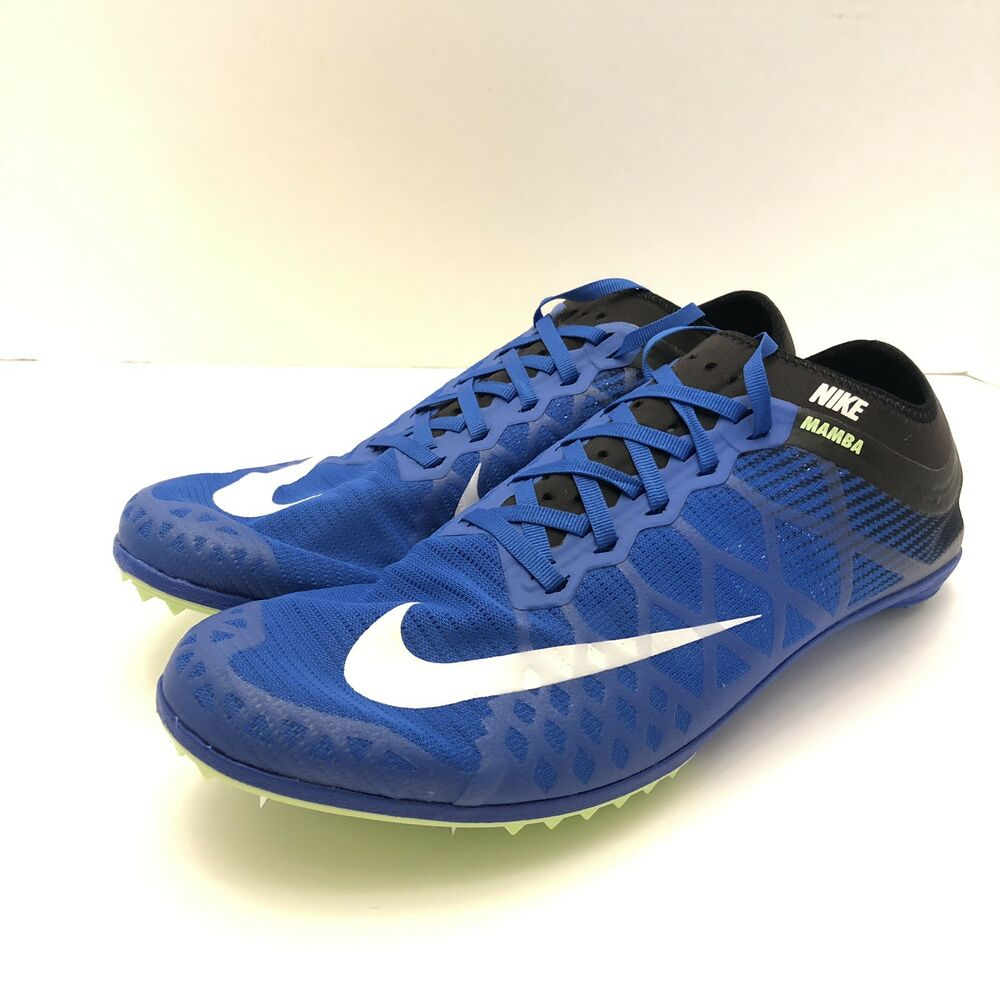 detailed look f51b8 16c0f Details about Nike Zoom Mamba 3 Track   Field With Spikes Blue Mens Size 12  706617-413 New
